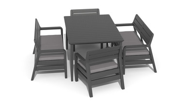 Surprising Delano Set With Lima Table 160 Sklep Curver Lifestyle Ocoug Best Dining Table And Chair Ideas Images Ocougorg